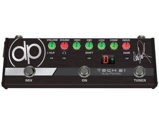 TECH21/SansAmp DP-3X dUg Pinnick Signature Pedal ベース用プリアンプ