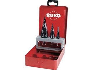 RUKO/ルコ 2枚刃スパイラルステップドリルセット 3本組 チタンアルミウム 101026F