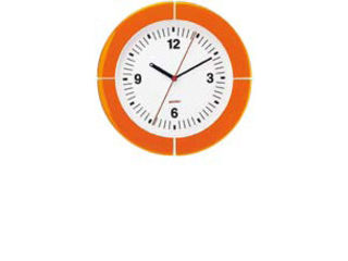 guzzini/フラテッリグッチーニ ウォールクロック/2895.0045オレンジ