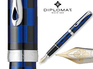 DIPLOMAT/ディプロマット 【Excellence A/エクセレンスエー】ローマ ブラックブルー 14K FP (M)