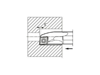 KYOCERA/京セラ 内径加工用ホルダ S12M-SCLCR06-14A