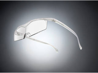 Hazuki Company/ハズキ 【Hazuki/ハズキルーペ】メガネ型拡大鏡 コンパクト クリアレンズ 1.6倍 パール 改良版 【ムラウチドットコムはハズキルーペ正規販売店です】