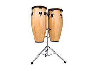 LP LPA646-AW LP Aspire 10″ & 11″ Conga Set Wood with Double Stand Natural Wood