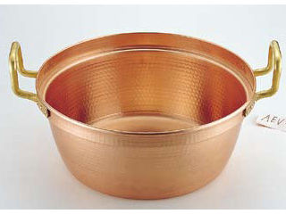 MARUSHIN/丸新銅器 SA銅 円付鍋 両手(錫引きなし)/45cm