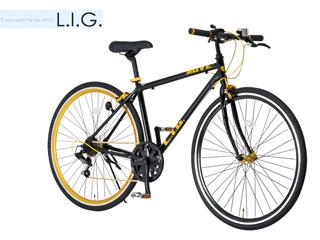 L.I.G/エルアイジー MOVE 700c 7段変 クロスバイク自転車 (ブラック) メーカー直送品のため【単品購入のみ】【クレジット決済のみ】 【北海道・沖縄・離島不可】【日時指定不可】商品になります。