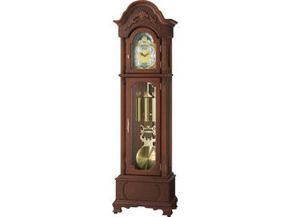 RHYTHM/リズム時計 4RN416RH06 【HiARM-416R】 電波柱時計(大) 茶色半艶仕上/飾り振り子付