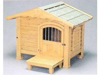 IRIS OHYAMA/アイリスオーヤマ 【時間帯指定不可】ロッジ犬舎 RK-950 ブラウン