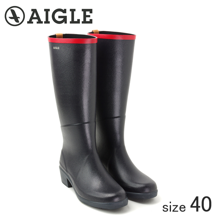 ≪正規品≫ AIGLE/エーグル ラバーレインブーツ MISS JULIETTE A (MARINE ROUGE/サイズ40:25.0cm)