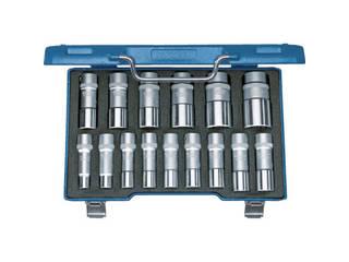 ブランド品専門の GEDORE/ゲドレー 2190214:エムスタ ソケットセット(12角) 1/2 15セット-DIY・工具
