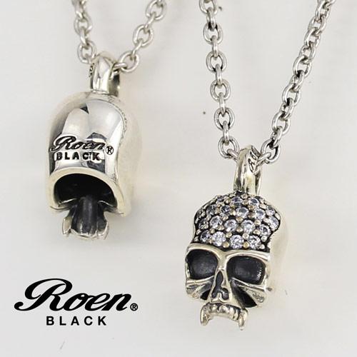 Roen BLACK/ロエンブラック RoenBLACK スカルチャームネックレス (シルバー925/フブラス)  RO-004 【新品】 メンズアクセサリー 【正規品】 【RBLACKNC】