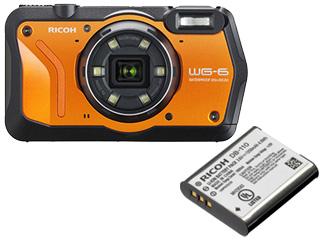 RICOH/リコー WG-6(オレンジ)+DB-110 充電式バッテリーセット【wg6set】