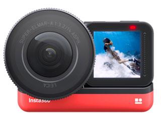 【納期にお時間がかかります】 Insta360 CINAKGP/B Insta360 ONE R 1インチ版(1インチ広角モジュール) レンズ交換対応アクションカメラ Insta360 ONE R 1-Inch Edition(1インチ広角モジュール) 5.3K動画/1900万画素/5メートル防水/星軌跡撮影/スローモーション/H