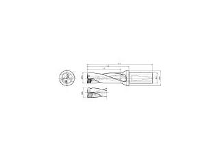 KYOCERA/京セラ ドリル用ホルダ S20-DRX125M-3-03