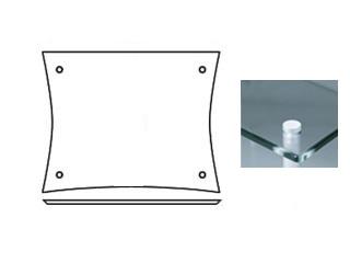 QUADRASPIRE/クアドラスパイア Q4D/GL/SO(ガラス) 棚板1枚 ※ポール別売