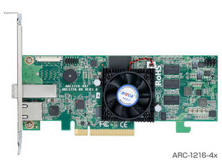 ARECA SAS RAIDカード4ポート PCIe X8 1xSFF-8644 ARC-1216-4X