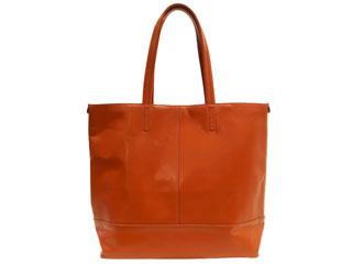 PID/ピー・アイ・ディー PAR101 本革 シンプルスムース トートバッグ(オレンジ)