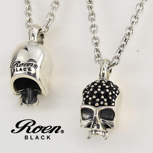 Roen BLACK/ロエンブラック RoenBLACK スカルチャームネックレス (シルバー925/フブラス) RO-005 【新品】 メンズアクセサリー 【正規品】 【RBLACKNC】