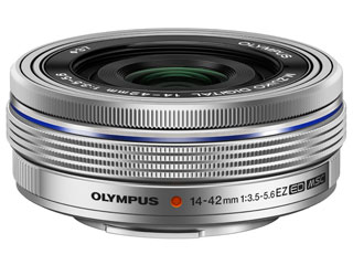 OLYMPUS/オリンパス M.ZUIKO DIGITAL ED 14-42mm F3.5-5.6 EZ(シルバー) 3倍ズームレンズ