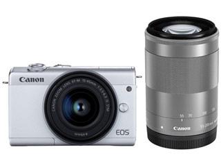 CANON/キヤノン EOS M200・ダブルズームキット(ホワイト) ミラ-レスカメラ 3700C016