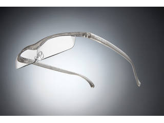 Hazuki Company/ハズキ 【Hazuki/ハズキルーペ】メガネ型拡大鏡 クール クリアレンズ 1.32倍 チタンカラー 改良版 【ムラウチドットコムはハズキルーペ正規販売店です】