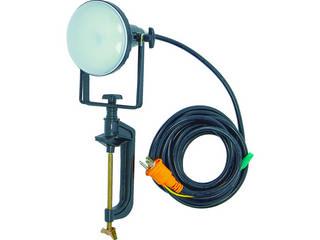 TRUSCO/トラスコ中山 LED投光器 DELKURO バイスタイプ 20W 10m アース付 2芯3芯両用タイプ RTLE-210EP-V