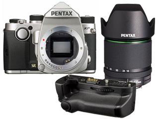 PENTAX/ペンタックス KPボディキット(シルバー)+バッテリーグリップ+【アウトレット】DA18-135mmF3.5-5.6セット【kpset】 ※交換レンズは『新品アウトレット』です 【最大2万円スプリングキャッシュバックキャンペーン!5月12日迄】