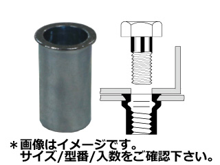 TOP/トップ工業 スチールスモールフランジナット(1000本入) SFH-1040SF