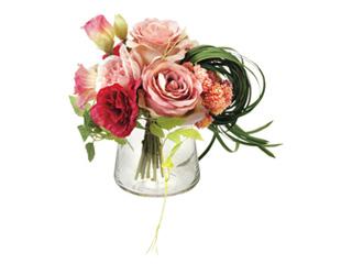 PRIMA ★★★ガラスベ-スアレンジ(造花) ピンク PRSY-0096