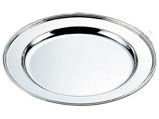 H 洋白 丸肉皿 18インチ 三種メッキ