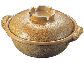 アルミ 電磁調理器用 土鍋 33cm 幸楽色