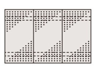 SAKAE/サカエ 【代引不可】ステンレスパンチングウォールシステム PO-453LSU