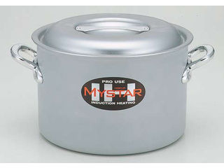 hokua/北陸アルミニウム 業務用マイスターIH 半寸胴鍋/39cm