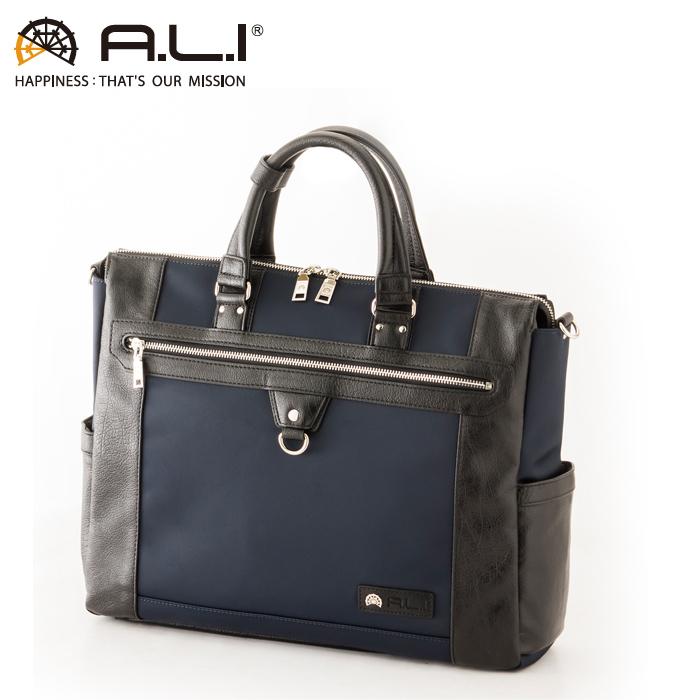 A.L.I/アジア・ラゲージ AGBS-3433 メンズ ビジネスバッグ (ネイビー)
