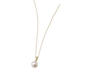 18金本真珠ダイヤペンダント   S8068