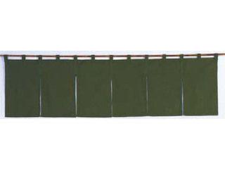 綿麻無地 のれん 記念日 大規模セール 001-10 1700×450 緑