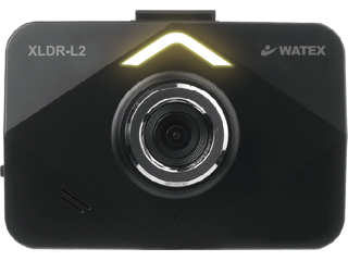 WATEX/ワーテックス XLDR-L2KG-R-B 3.5インチ液晶ドライブレコーダー 配線 (駐車録画可)サブカメラ付き(赤外線なし)