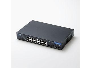 ELECOM エレコム 1000BASE-T対応 スイッチングハブ/WEBスマート対応/16ポート/3年保証 EHB-SG2B16 単品購入のみ可(取引先倉庫からの出荷のため) クレジットカード決済 代金引換決済のみ