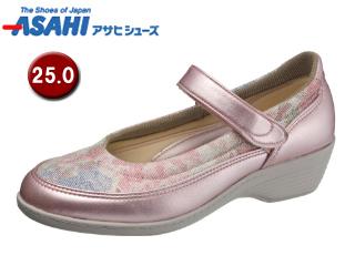ASAHI/アサヒシューズ KS23341-1 快歩主義 L119AC レディースコンフォートシューズ 【25.0cm・3E】 (ピンクガラ)
