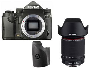 PENTAX/ペンタックス KPボディキット(ブラック)+グリップM+DA 16-85mmF3.5-5.6ED DC WRセット【kpset】
