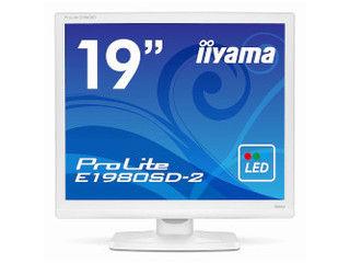 iiyama/飯山 19型ホワイトLEDバックライト搭載液晶ディスプレイ ProLite E1980SD-2 ピュアホワイト E1980SD-W2