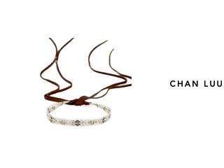 CHAN LUU/チャンルー ビーズミックス レザーネックレス NS-13421(CREAM) チャンルーオリジナル巾着袋付き!