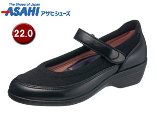 ASAHI/アサヒシューズ KS23342-1 快歩主義 L119AC レディースコンフォートシューズ 【22.0cm・3E】 (ブラック)