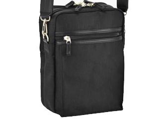 BROMPTON/ブロンプトン 日本製■縦型ショルダーバッグ【ブラック】混紡ツイル■A4ファイル対応■YKKファスナー#33715 バッグ カバン 鞄 通勤 ビジネス 仕事