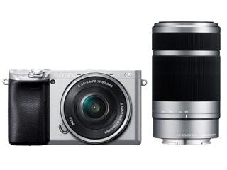 SONY/ソニー ILCE-6400Y-S(シルバー) α6400 ダブルズームレンズキット デジタル一眼カメラ APS-Cセンサー搭載/約2420万画素/ISO100-32000/4K動画記録30P/有機ELファインダー/自分撮り対応タッチ液晶