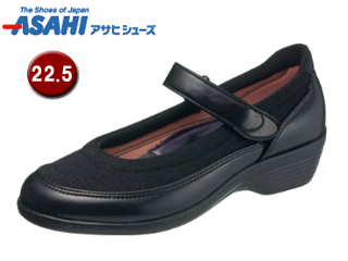 ASAHI/アサヒシューズ KS23342-1 快歩主義 L119AC レディースコンフォートシューズ 【22.5cm・3E】 (ブラック)