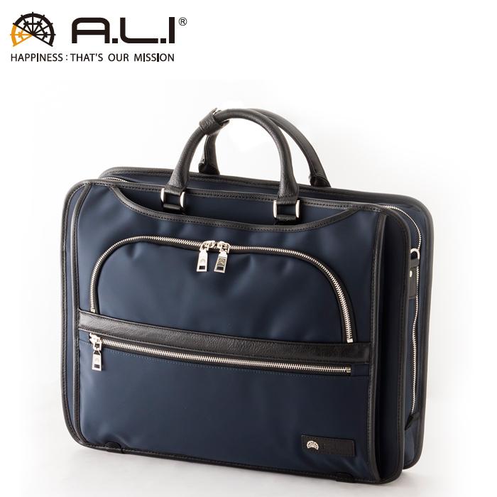 A.L.I/アジア・ラゲージ AGBS-3435 メンズ ビジネスバッグ (ネイビー)