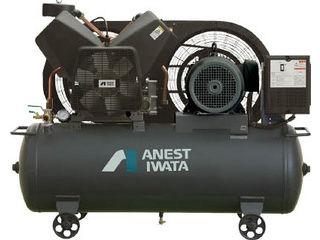 【組立・輸送等の都合で納期に1週間以上かかります】 ANEST IWATA/アネスト岩田コンプレッサ 【代引不可】レシプロコンプレッサ(タンクマウント・オイルフリータイプ)60Hz TFP75CF-10M6
