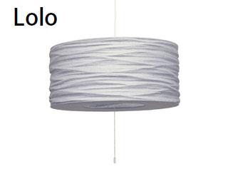 ELUX/エルックス LC10766-GY ルチェルカ 3灯ペンダント ロロ (グレー) ※電球別売(ナツメ球のみ付属)