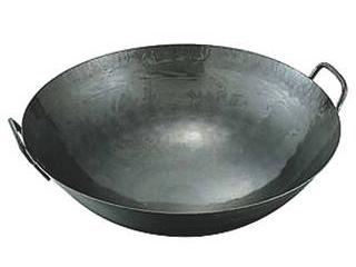 鉄打出中華鍋 1.6mm(取手溶接)60cm