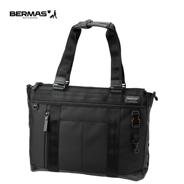 BERMAS/バーマス 60072-BK BAUER ビジネスバッグ 横型トート (ブラック)